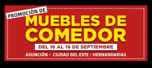 Promoción de Muebles de Comedor Septiembre